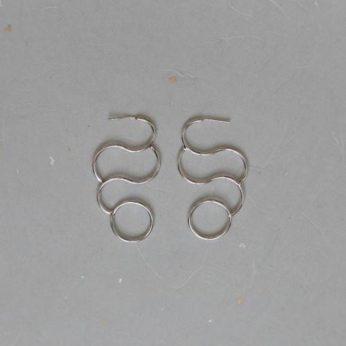 עגילים עשויים כסף 925, עיצוב ישראלי מקורי,